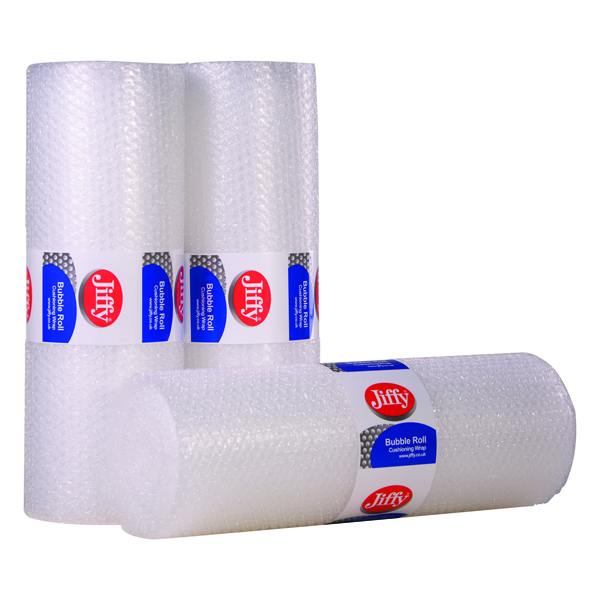 Jiffy 500mmx10m Clear Bubble Film Roll BROC37737