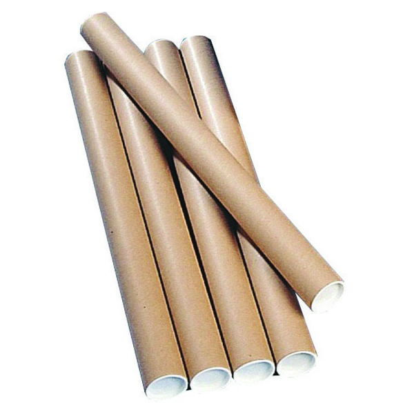 Brown Kraft 450x76mm Postal Tube (12 Pack) PT-076-15-0450