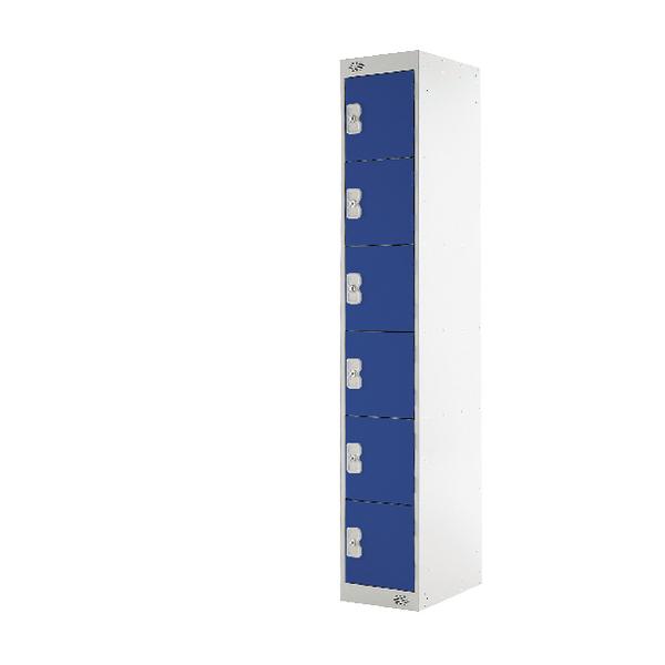Blue Door 450mm Deep Six Compartment Locker