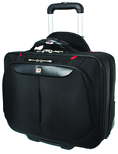 Gino Ferrari Black On Board Wheeled Laptop Case GF565
