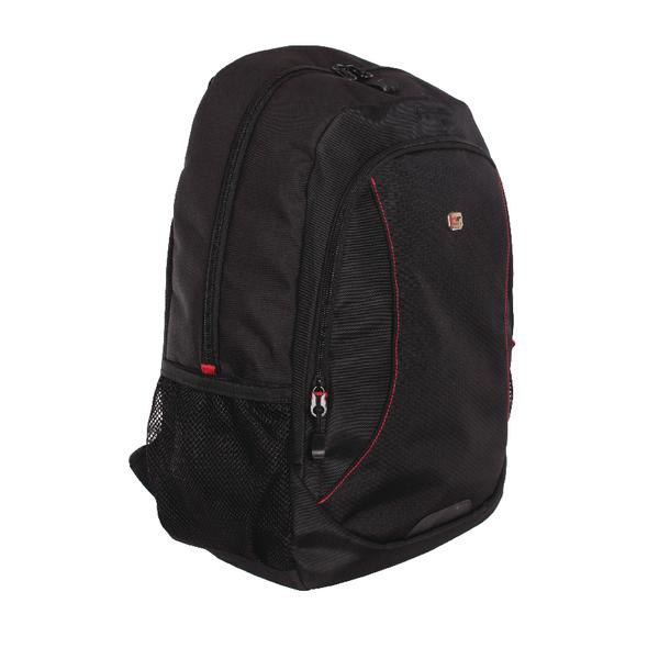 Gino Ferrari Eros 16 Inch Laptop Backpack Red Trim GF507