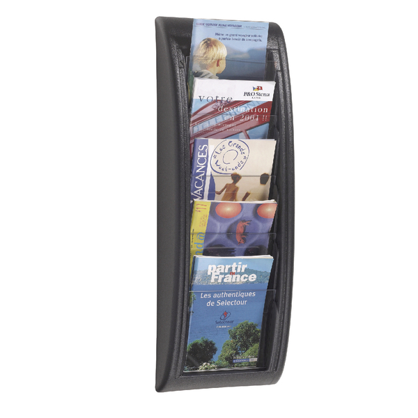 Image for Fast Paper Black Quick Fit A5 Wall Display System F406301