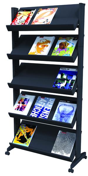 Fast Paper Black Mobile Easy Literature Display Wide Corner F255N001