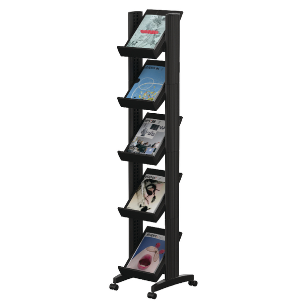 Fast Paper Black Mobile Easy Literature Display Narrow Single-Sided F259N01