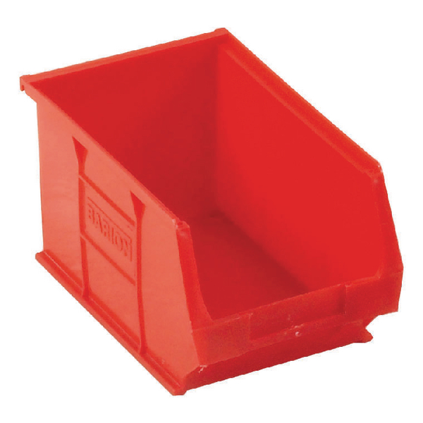 Barton Tc3 Small Parts Container Semi-Open Front Red 4.6L 150X240X125mm (Pack of 10) 010032