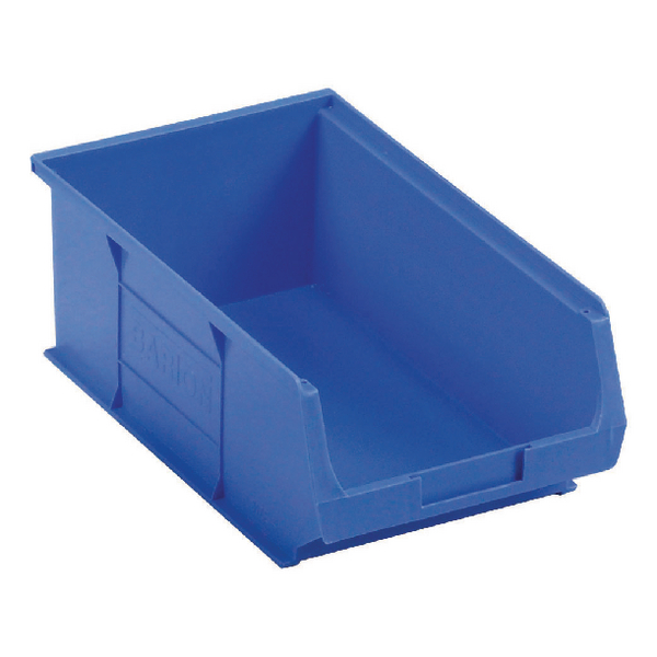 Image for Barton TC4 Small Parts Container Semi-Open Front Blue 9.1 Litre 200x355x125mm Pack of 10 010041