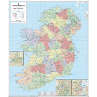 Image for Map Marketing Political Map of Ireland (pack of 1) IRE