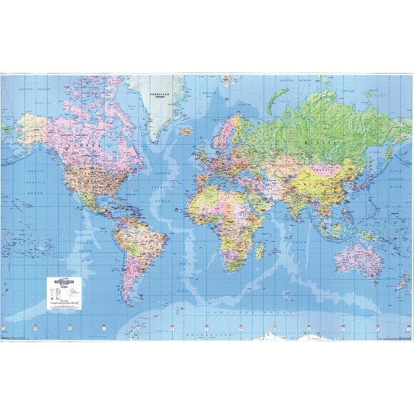 Image for Map Marketing Giant World Political Laminated Map GWLD
