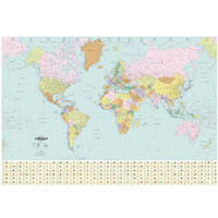 Map Marketing Political Map of the World (Pack of 1) BEX