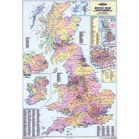 Map Marketing UK Counties Districts & Unitary Authorities Map (pack of 1) BIC