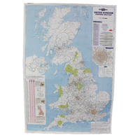 Map Marketing UK Postcode Area Map BIPA (Pack of 1) MM90301