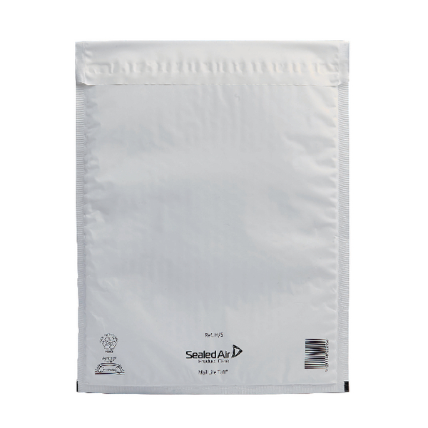 Mail Lite Tuff Bubble Lined Polyethylene Mailer Size H/5 270x360mm White (Pack of 50) 103015255