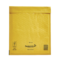 Mail Lite Bubble Lined Size E/2 220x260mm Gold Postal Bag (Pack of 10) 103041282