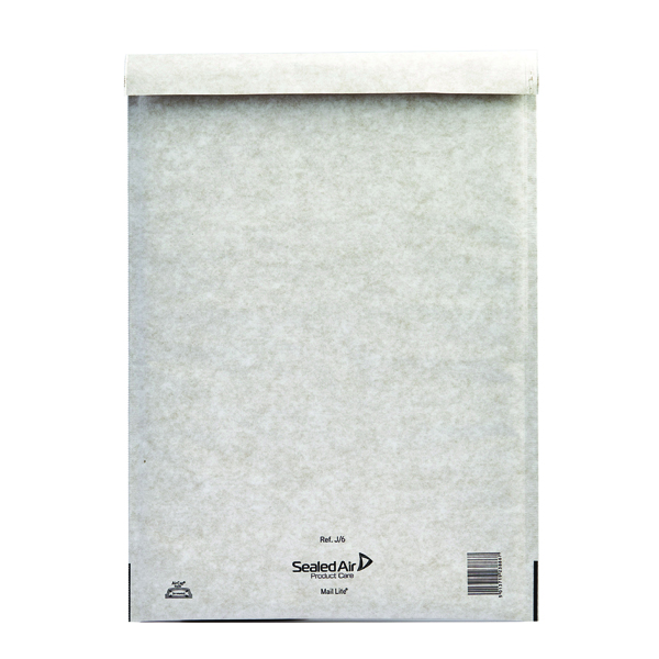 Mail Lite Bubble Lined Size J/6 300x440mm White Postal Bag (Pack of 50) 103005504