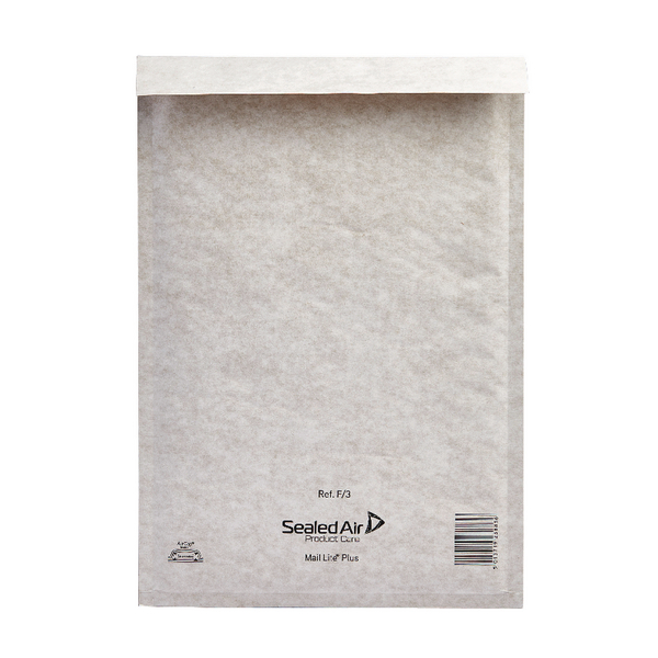 Mail Lite Plus Bubble Lined Size F/3 220x330mm Oyster White Postal Bag (Pack of 50) MLPF/3