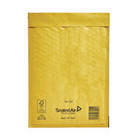 Image for Mail Lite Size D/1 180 x 260mm Gold Bubble Lined Postal Bag (10 Pack) 103027477