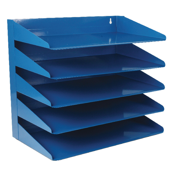 Avery Steel Letter Rack 5 Tier Blue 605