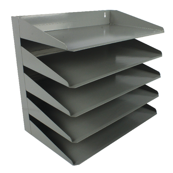 Avery Steel Letter Rack 5 Tier Grey 605