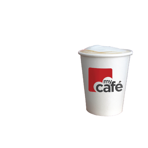 MyCafe 8oz Single Wall Hot Cup Pk50