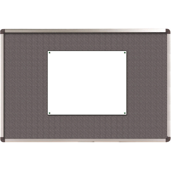 Nobo Grey Felt Classic 1200x900mm Notice Board 1900912