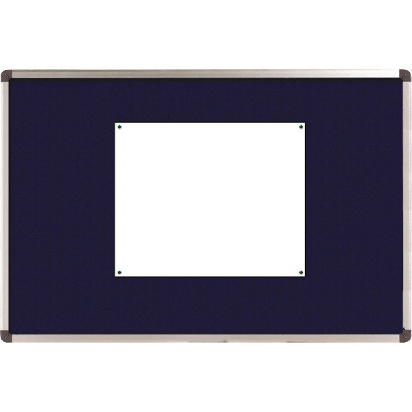 Nobo Blue Felt 1200x900mm Classic Noticeboard 1900916