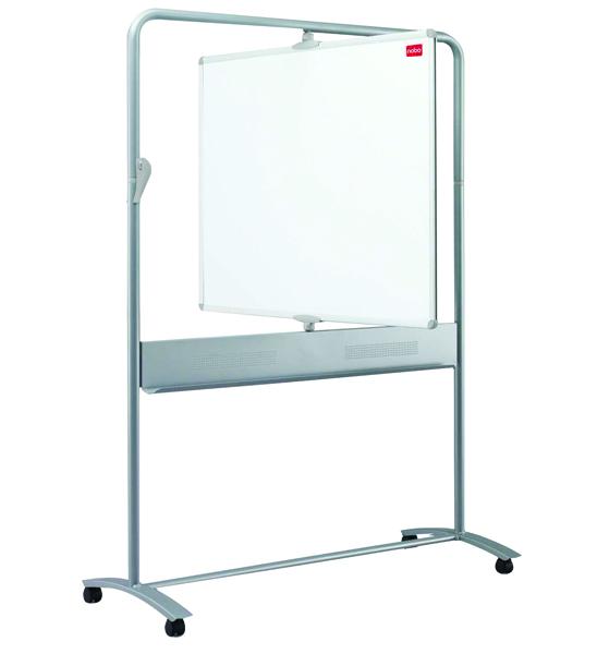 Nobo Grey Mobile Vertical Pivot Whiteboard 1200 x 900mm 1901030