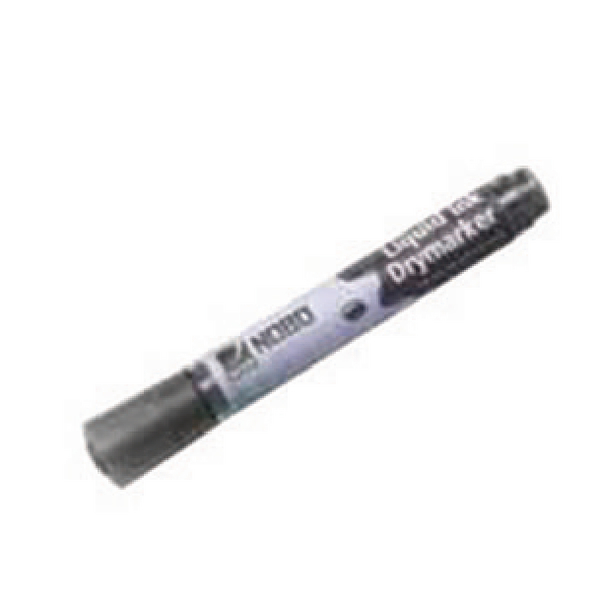 Nobo Liquid Ink Drywipe Black Bullet Tip Marker (Pack of 12) 1901073