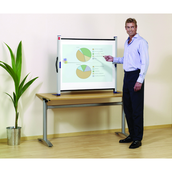 Nobo Grey Portable 50-inch Desktop Projection Screen 1901954