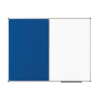 Nobo Combination Board Magnetic Dry Wipe and Blue Felt 900 x 600mm 1902257