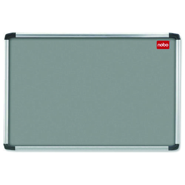 Nobo 1200 x 900mm Aluminium Frame Grey Notice Board 30230158