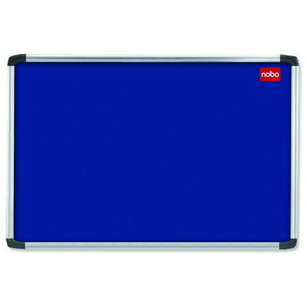Nobo 1200x900mm Aluminium Frame Blue Notice Board 30230175