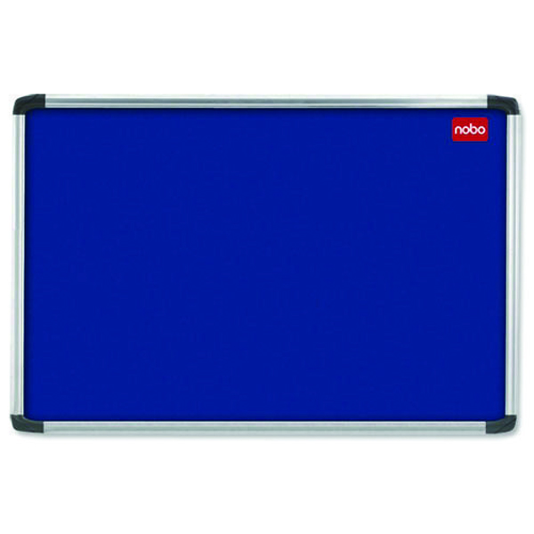 Nobo 1800 x 1200mm Aluminium Frame Blue Notice Board 30230184