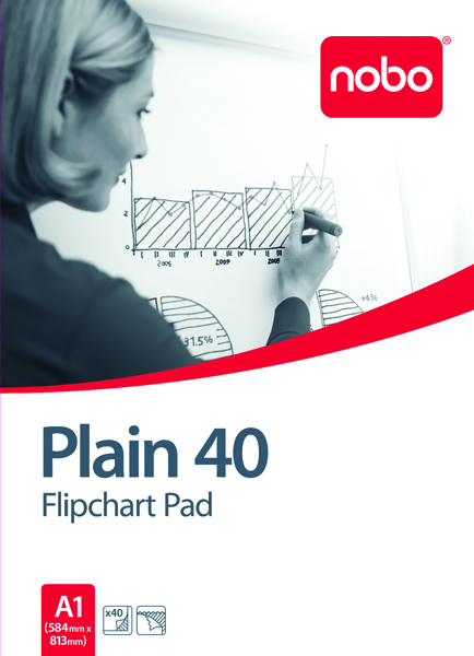 Nobo Flipchart A1 Pad Plain FPA1 Pack of 5 34631165