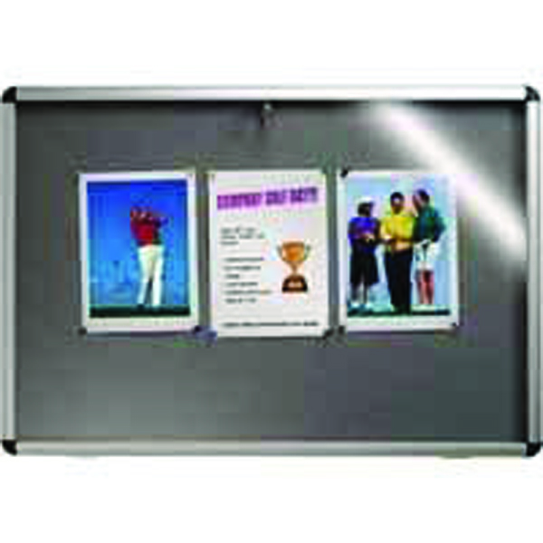 Nobo Lockable Visual Insert Board 1265 x 965mm Grey 31333501