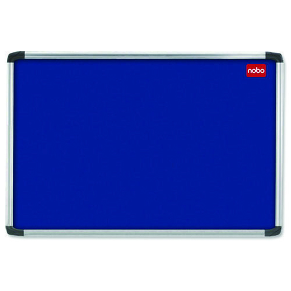 Nobo 1500x1000mm Aluminium Frame Blue Notice Board 30234148