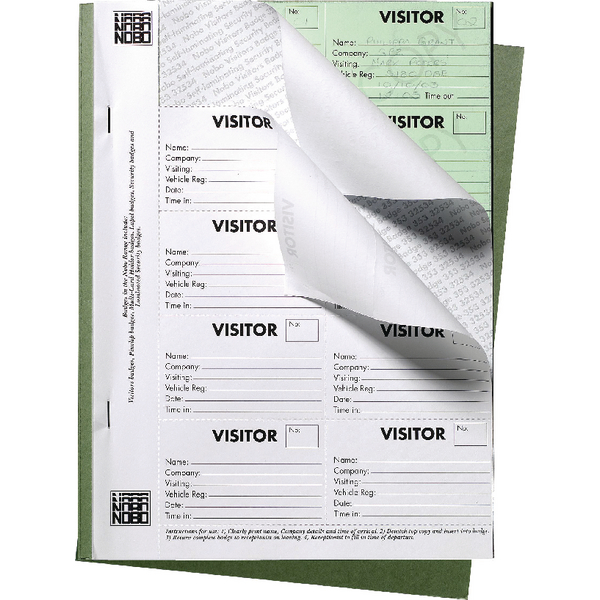 Image for Nobo Visitors Badge Book 35334941