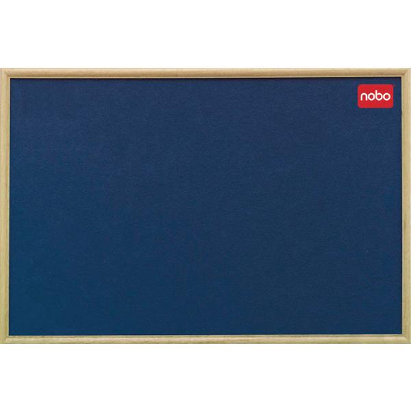 Nobo Felt 1200x900mm Classic Oak Frame Blue Notice Board 30135005