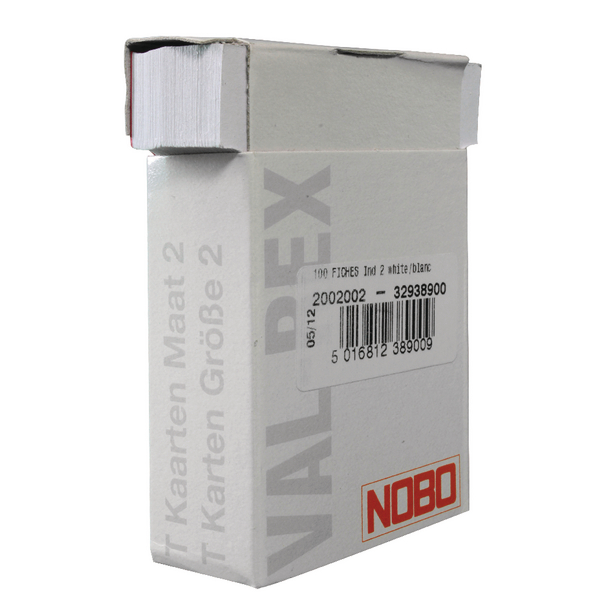Nobo Size 2 White T-Card (100 Pack) 32938900