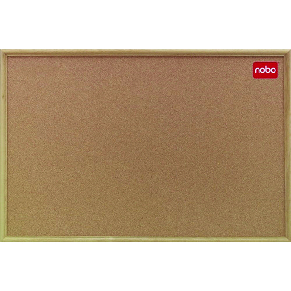 Nobo 900x600mm Cork Classic Oak Noticeboard 37639003