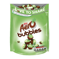Aero Peppermint Bubbles Pouch 113G Each