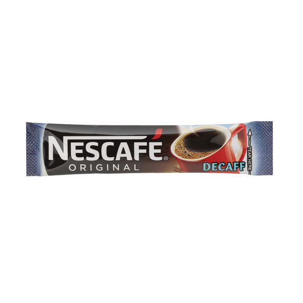 Nescafe Decaffeinated One Cup Sticks Coffee Sachets (Pack of 200) 12138013