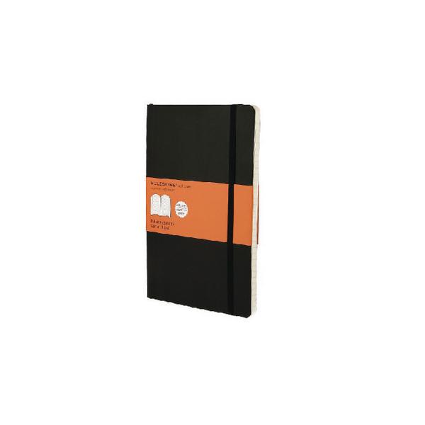 Moleskine Classic Notebook Ruled Large Hard Cover Black QP060