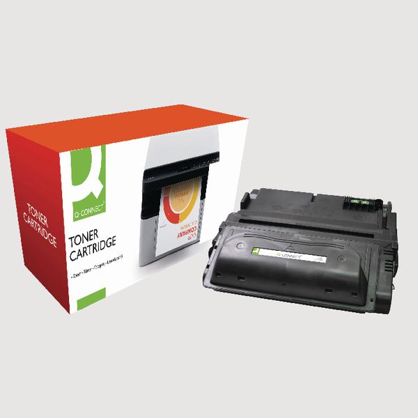 Q-Connect HP 38A Reman Black LaserJet Toner Cartridge Q1338A