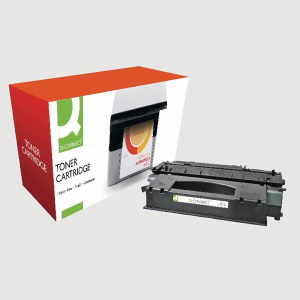 Q-Connect HP 53X Reman Black LaserJet Toner Cartridge High Yield Q7553X