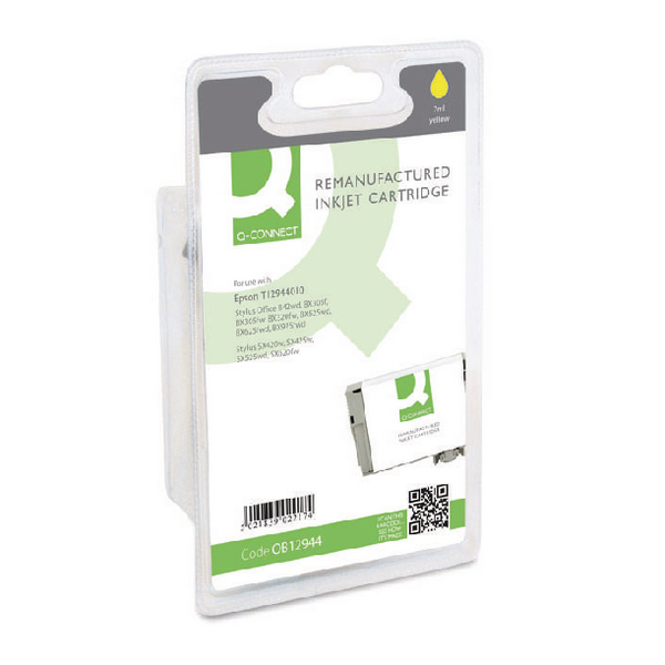 Q-Connect Epson T1294 Reman Yellow Inkjet Cartridge C13T12944011 / T129440