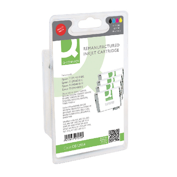 Q-Connect Epson T129540 Ink Cartridge (Pack KCMY (Pack of 4) T129540-COMP