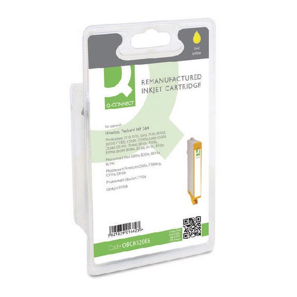 Q-Connect HP 364 Reman Yellow Inkjet Cartridge CB320EE
