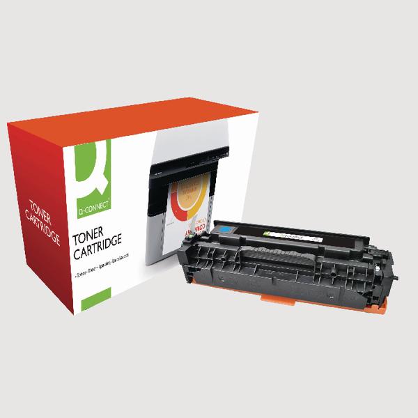 Q-Connect HP 304A Reman Cyan LaserJet Toner Cartridge CC531A