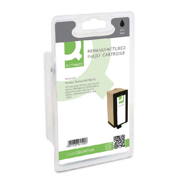 Q-Connect HP 920XL Reman Black High Yield Inkjet Cartridge CD975AE