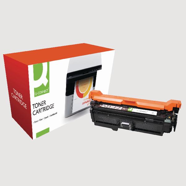 Q-Connect HP 504A Reman Black LaserJet Toner Cartridge CE250A